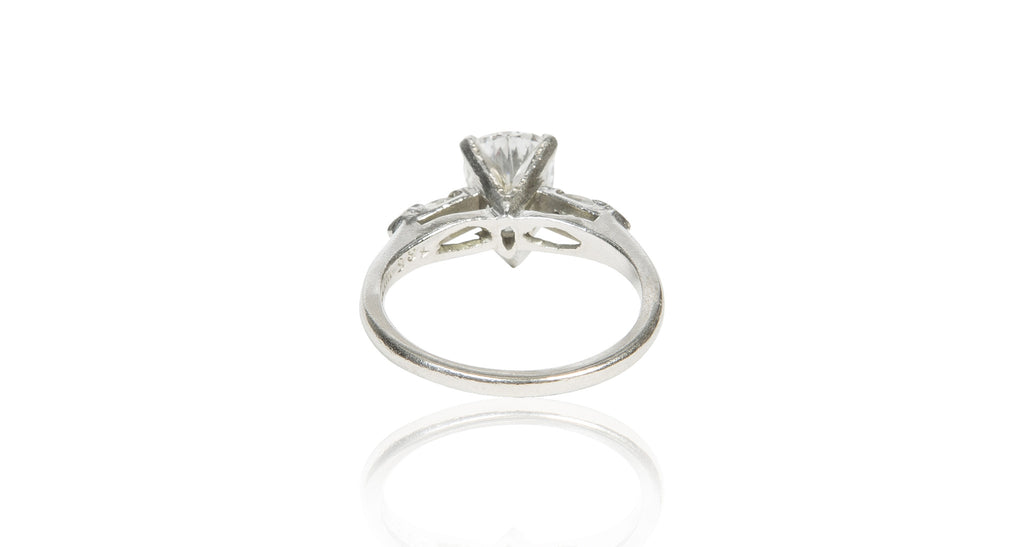 Pear Shaped Diamond & Platinum Engagement Ring