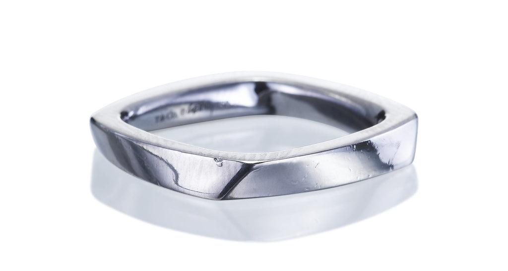 Tiffany & Co White Gold Wedding Band