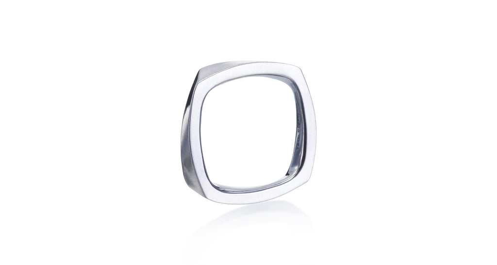 Frank Gehry Torque Design White Gold Ring