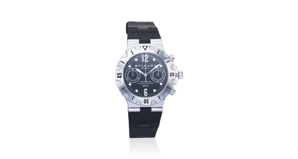 Bvlgari Diagono Chrono Scuba Diving Black Automatic Watch