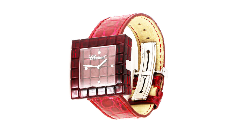 Chopard Red 'Be Mad' Square Watch