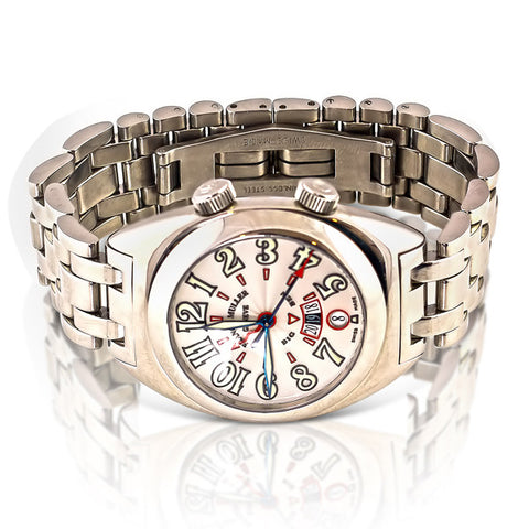 2000 Big Ben Automatic Watch, With Silver Guilloche Dial & Polished Stainless Steel Bracelet