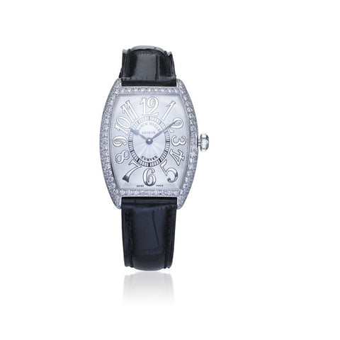 Franck Muller Curvex White Gold & Diamond Watch