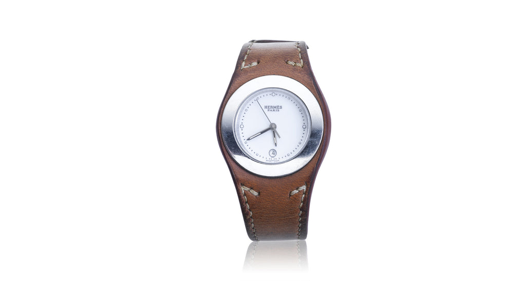 Hermès Harnais Stainless Steel Leather Strap Watch