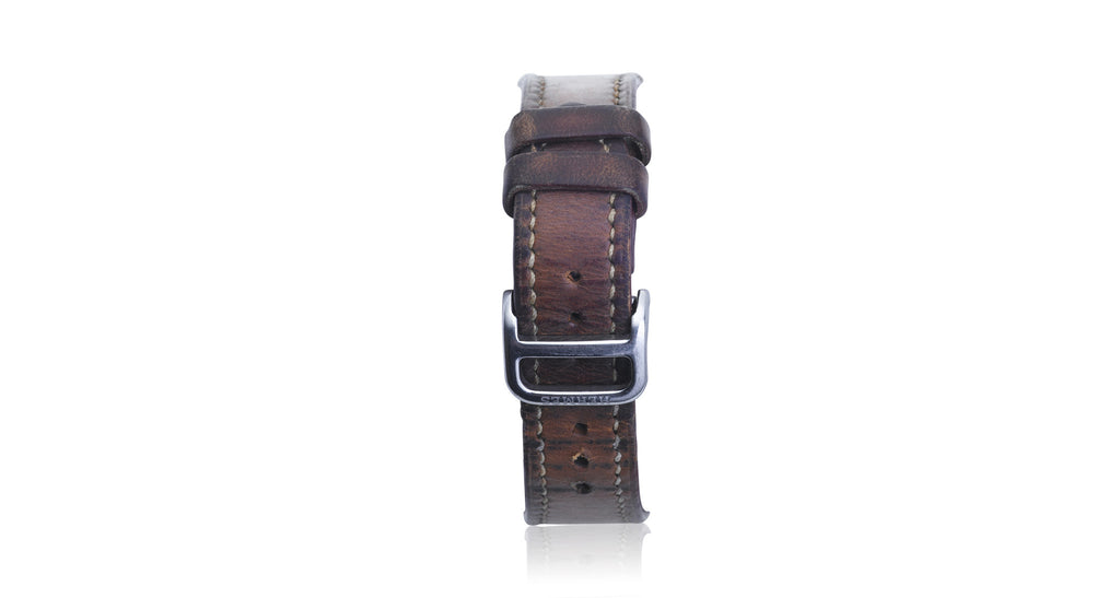 Harnais Ladies Stainless Steel Leather Strap Watch