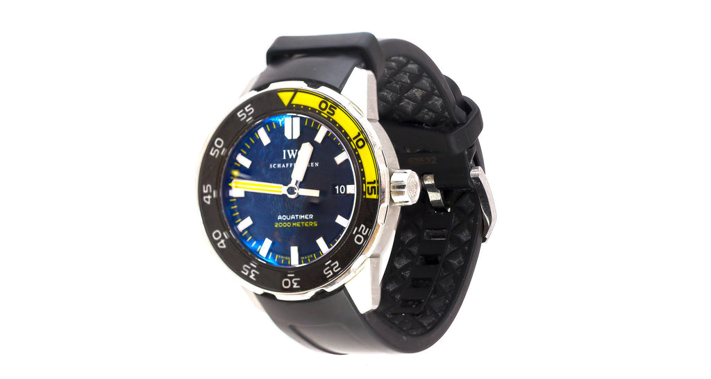 IWC Aquatimer Stainless Steel - Black & Yellow Bezel