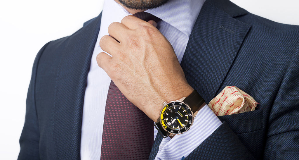 Aquatimer Stainless Steel - Black & Yellow Bezel