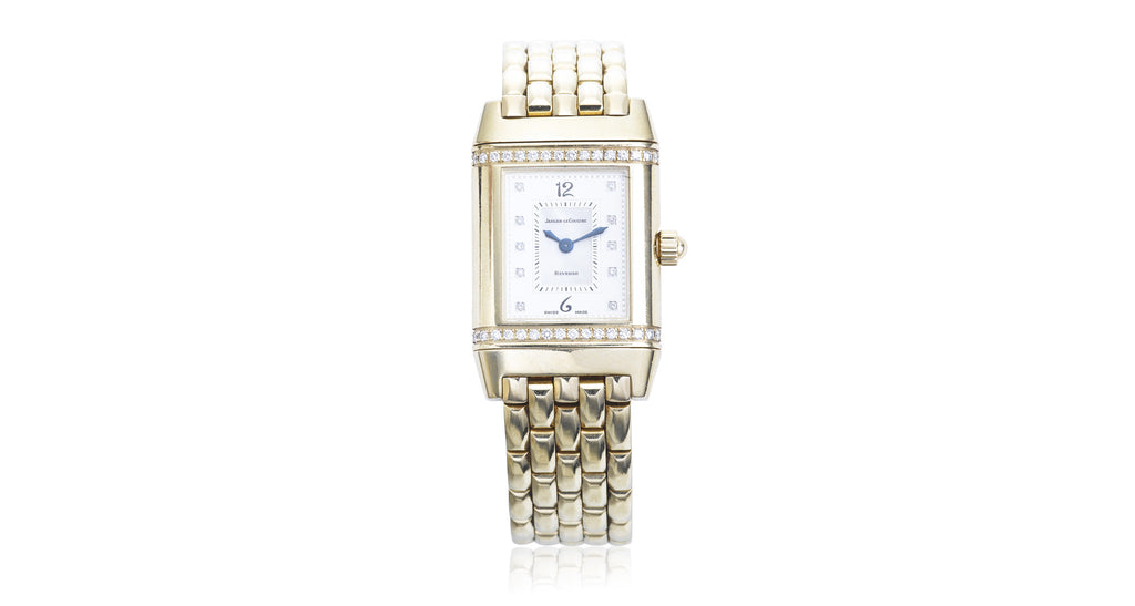 Jaeger-LeCoultre Diamond 'Reverso' Gold Watch