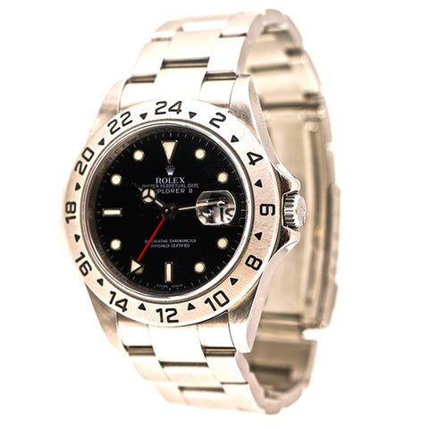 Rolex Explorer II, Black Face, Stainless Steel, Oyster Perpetual Date