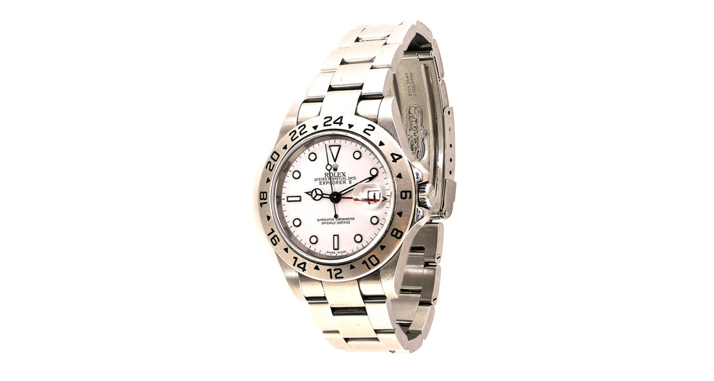 Rolex Explorer II, White Face, Stainless Steel, Oyster Perpetual Date
