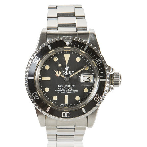 1985 Submariner Oyster Perpetual Date Stainless Steel, Black Dial & Enamel Bezel Watch