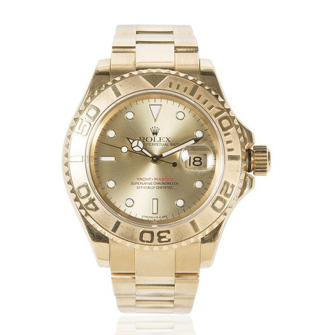 Yacht-Master 40mm Yellow Gold, Champagne Index Dial Watch