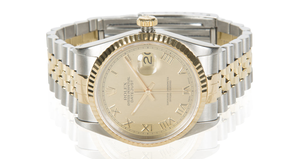 Oyster Perpetual Datejust, Champagne Dial With Two-Tone Jubilee Bracelet