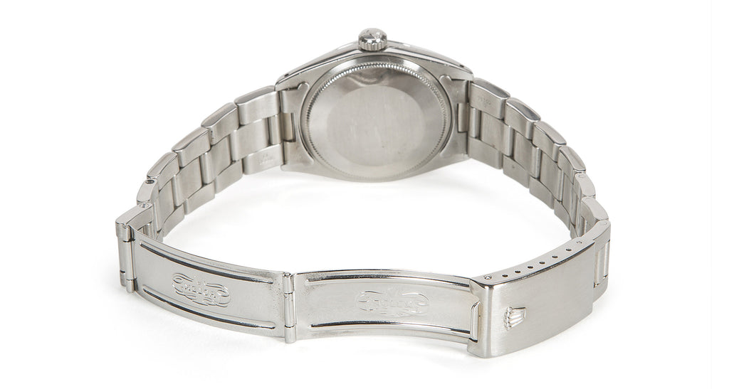 Vintage 1965 Oyster Perpetual Date 34mm Stainless Steel Oyster Band, Silver Dial