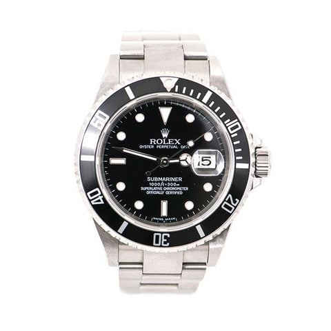 Submariner Oyster Perpetual Date Stainless Steel, Black Dial & Bezel Watch