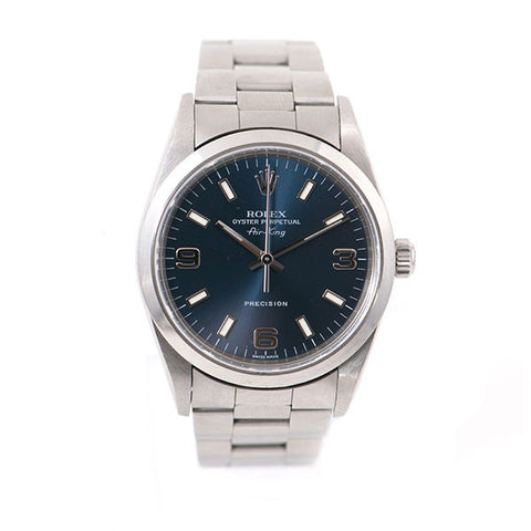 Air-King Oyster Perpetual Stainless Steel Band, Blue Dial Watch