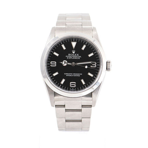 Explorer I Oyster Perpetual Stainless Steel Band, Black Index Dial Watch
