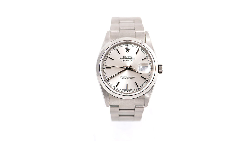 DateJust Stainless Steel Oyster Band, Silver Dial Watch