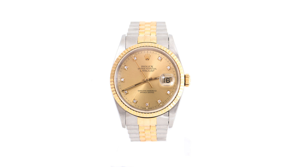 DateJust Two-Tone Band, Diamond Dial Watch