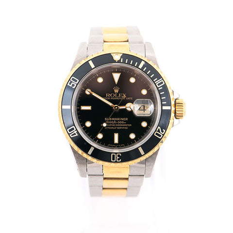Submariner Two-Tone Oyster Band, Black Dial Watch