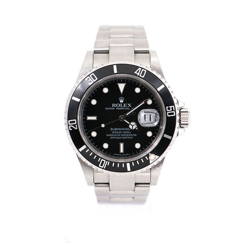 Submariner Date, Stainless Steel Oyster Band, Black Dial & Ceramic Bezel Watch