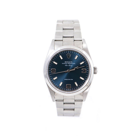 Air-King Oyster Perpetual, Stainless Steel Band, Blue Dial Watch