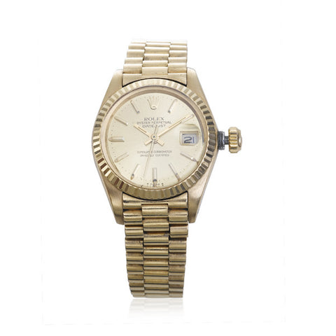 Rolex Men's 'Oyster Perpetual' Date-Just Gold Watch