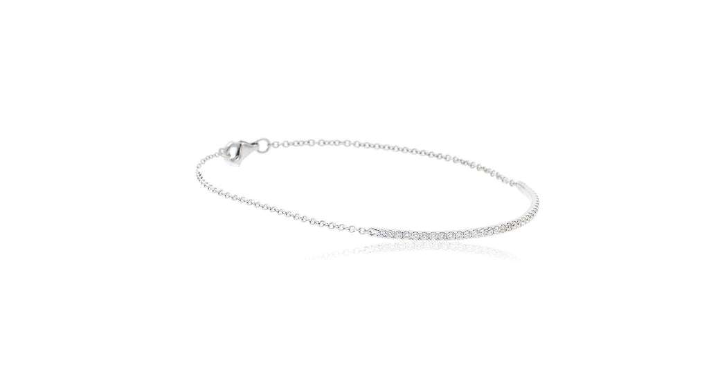 Wrap Around Diamond Bar Chain Bracelet