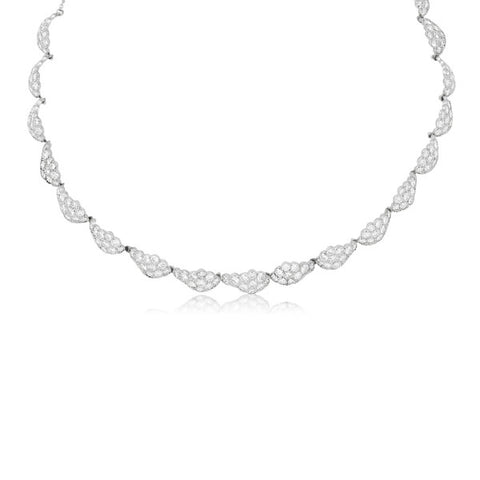 Antique Art Deco Diamond & Platinum Scalloped Collar Necklace