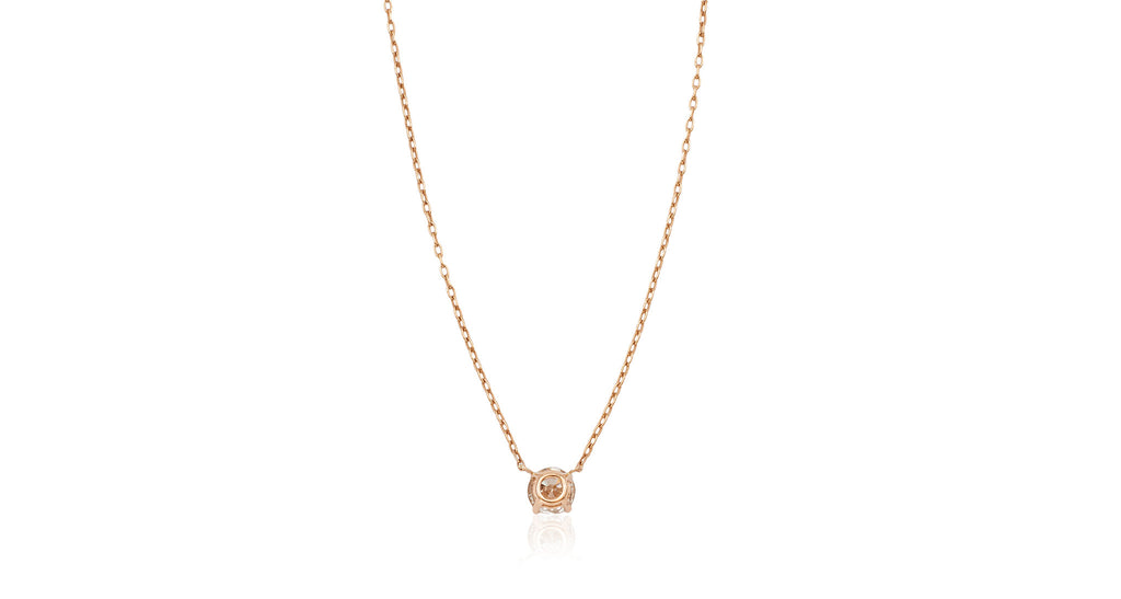 Rose Gold One-Carat Diamond Pendant Necklace