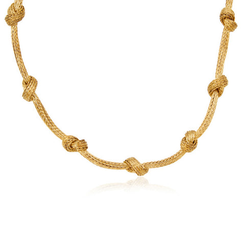 Italian Vintage Gold Knot Necklace