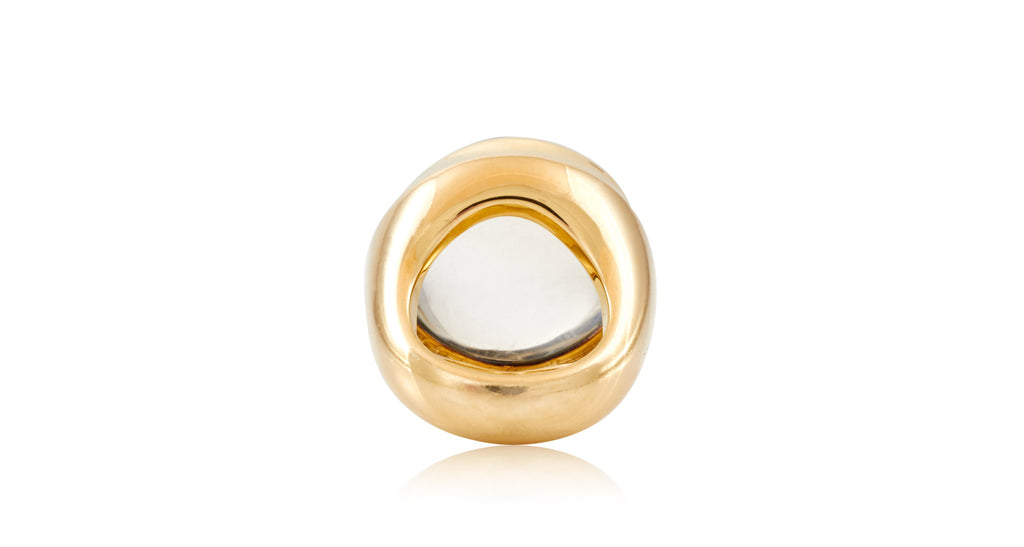 Mid-Century Moonstone Cabochon Gold Ring