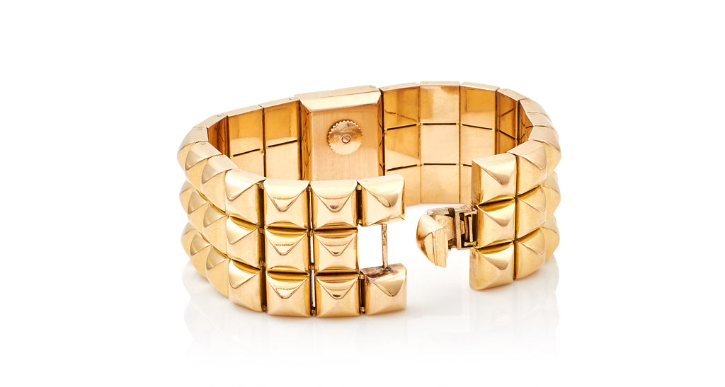 Limited Edition 1960s Studded Gold Watch