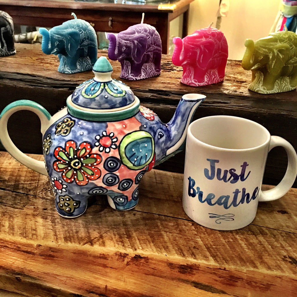 Elephant Teapot - Wildflower