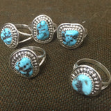 Turquoise Rock Ring - Wildflower