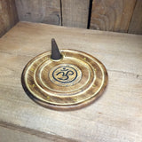 Om Wood Incense Holder - Wildflower