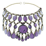 Rock N Rose // Evangeline Headdress Purple Jade - Wildflower