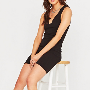 It's a known fact that you can never have enough LBD's.  This day-to-night mini dress by Project Social T is crazy comfortable with a flattering notch neckline, racer back and slim fitting silhouette made with stretchy soft fabric.  This is the only thing you'll be wearing this summer.  76% Rayon, 19% Poly, 5% Spandex