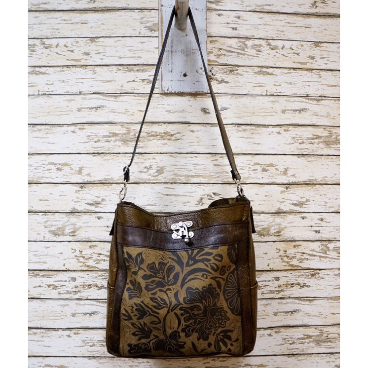 Painted Leather Tote - Wildflower