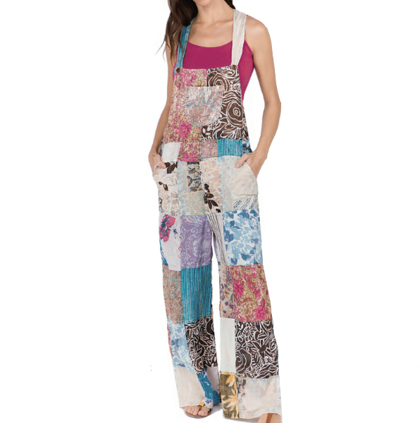 Janis Patchwork Overalls