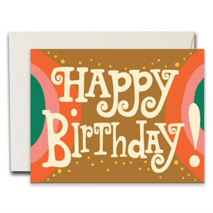 Happy Birthday Arches Greeting Card