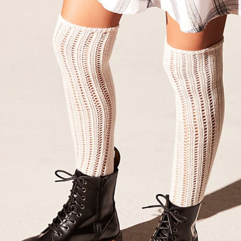 Woodland Pointelle Over the Knee Socks