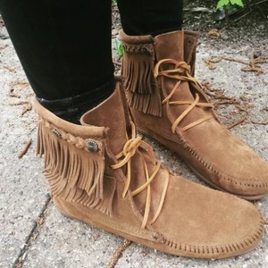 Double Fringe Short Tramper Moccasin *multiple colors*