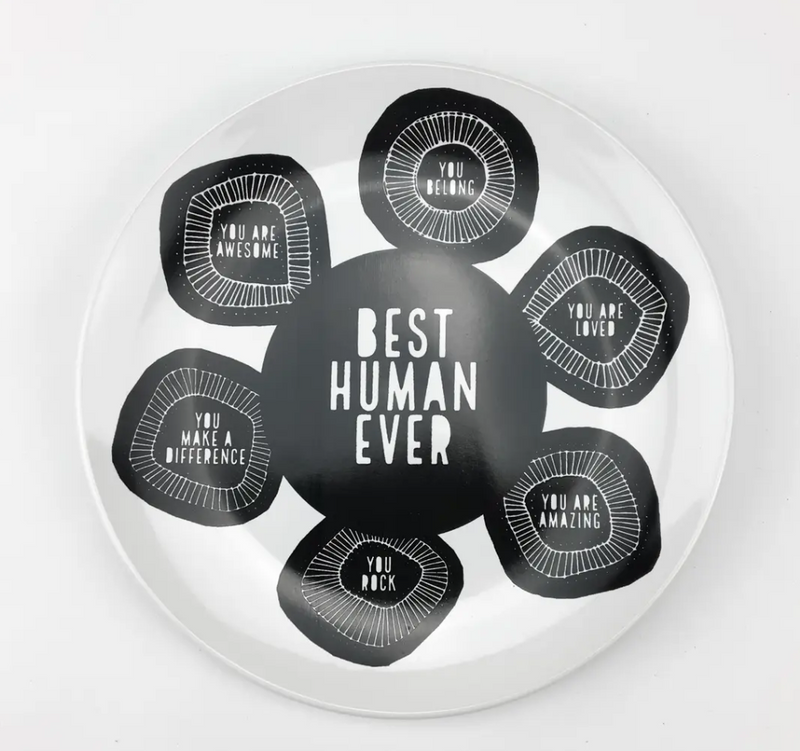 Plate - Dish - Best Human - Gifts