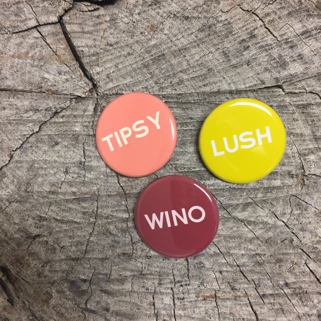 Lush Tipsy Wino Pin Set - Wildflower