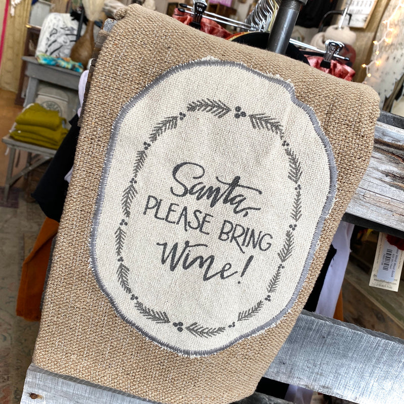 Holiday Burlap Dishtowel