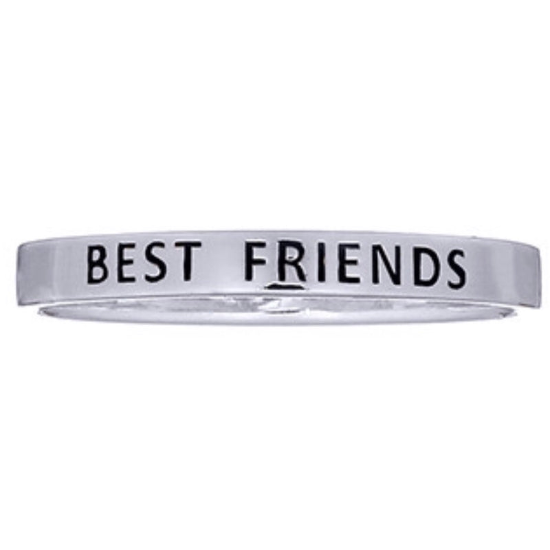 Best Friend Silver Ring