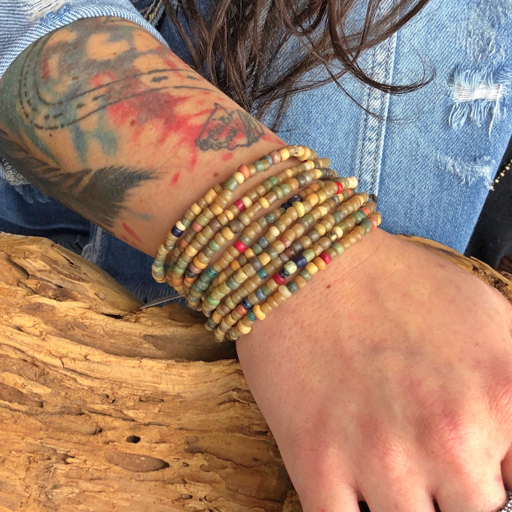 Boho Beaded Stacking Bracelets
