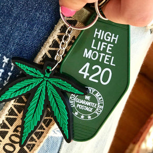 High Life Motel Keychain