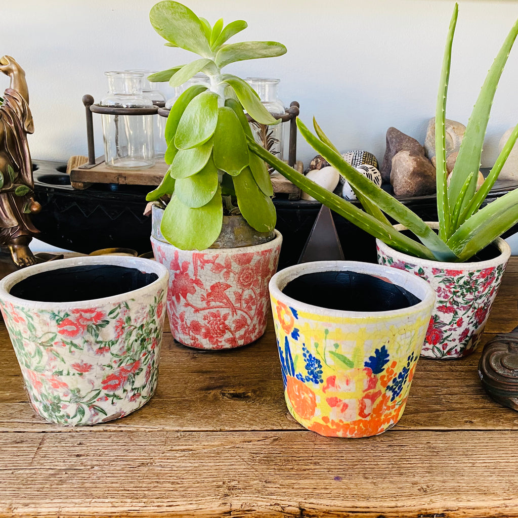 Flower Printed Planter